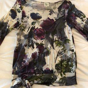 🔥4 FOR $30🔥Anthropologie Floral 3/4 Sleeve Top